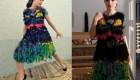 ایده های جالب این خانم هنرمند در طراحی لباس های زنانه