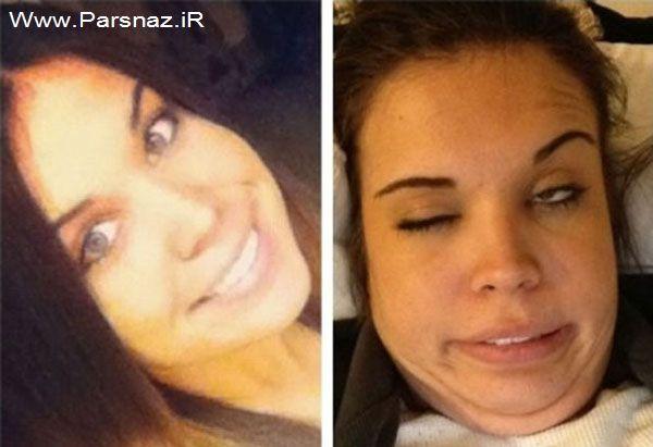 عکس های خنده دار از مسابقه شکلک در آوردن دخترها