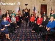 حضور گسترده زنان در مجلس سنای آمریکا (عکس)