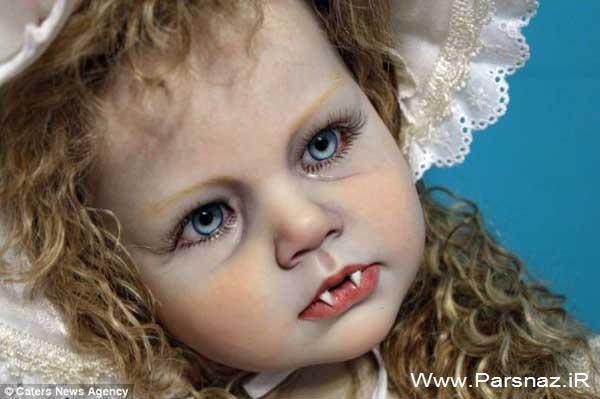 تصاویری از هنرمندی این خانم در ساختن عروسکهای ترسناک