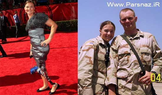 زندگی موفق اولین خانم جانباز آمریکایی در جنگ عراق (عکس)
