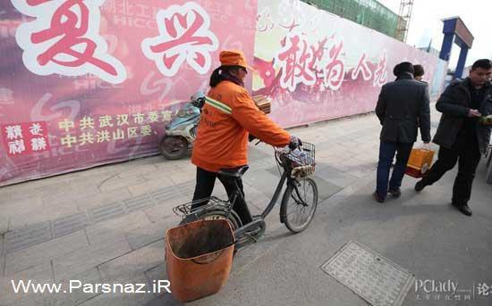 چرا این خانم میلیاردر خیابان ها را نظافت می کند؟ (عکس)
