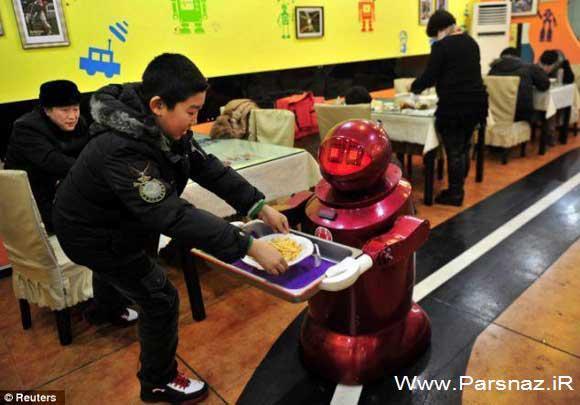 رستورانی جالب که روبات ها از شما پذیرایی می کنند (عکس)
