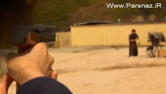 مردی گلوله را با شمشیر در هوا دو نصف می کند (عکس)