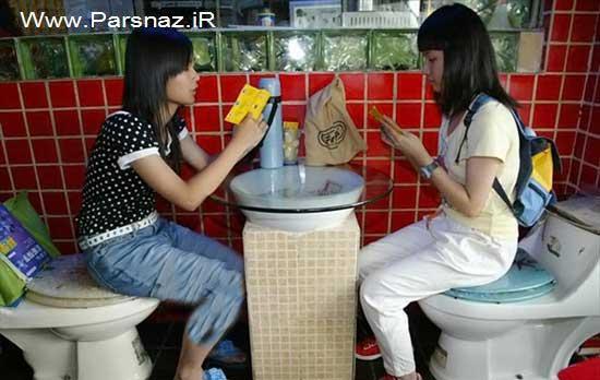 عکس های دیدنی از عجیب ترین رستوران جهان در چین- رستوران توالتی شنزن چین