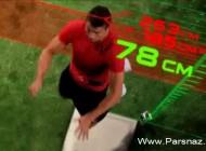 اندازه گیری پرش کریستیانو رونالدو در بازی با منچستر یونایتد