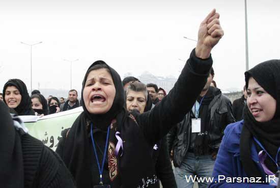 تظاهرات دختران و زنان افغانی در اعتراض به خشونت علیه زنان