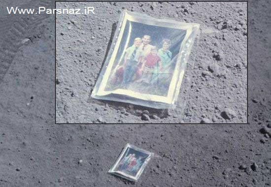عکس خانوادگی جوانترین فضانورد دنیا در کره ماه!