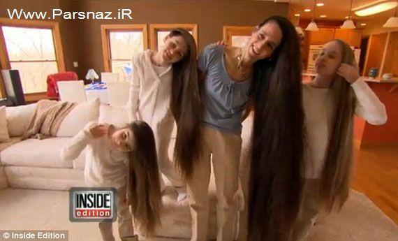 دیدار با این خانواده عجیب مو بلندها (عکس)