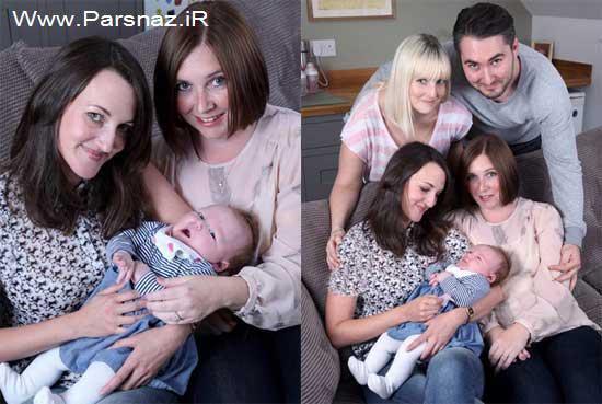 تولد کودکی که همزمان سه مادر دارد! (عکس)