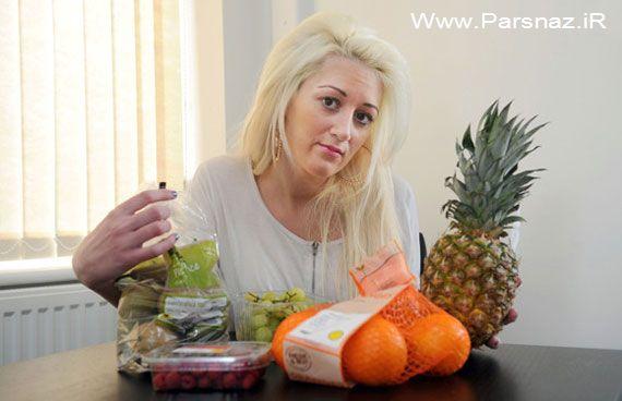 حساسیت عجیب و مرگبار این خانم به سبزیجات و میوه!