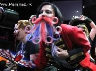عکس هایی از رقابت جالب دخترانی با ریش و سبیل