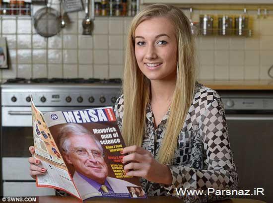 یک دختر جوان با ضریب هوشی بالاتر از آلبرت انیشتن (عکس)