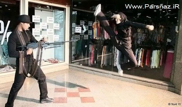 www.parsnaz.ir - عکس های مهسا احمدی اولین دختر بدلکار حرفه ای در ایران