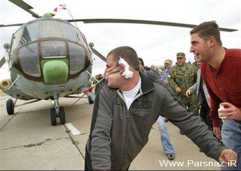 این مرد آمریکایى با گوش خود هلیکوپتر می کشد (عکس)