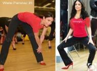 ورزش کردن خانم ها با کفش های پاشنه بلند (عکس)