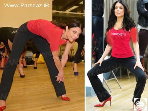 www.parsnaz.ir - ورزش کردن خانم ها با کفش های پاشنه بلند (عکس)
