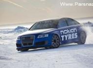 رکورد جدید گینس رانندگی روی یخ (عکس)