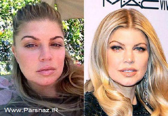 عکس هایی از چهره زنان زیبا و مشهور هالیوود بدون آرایش