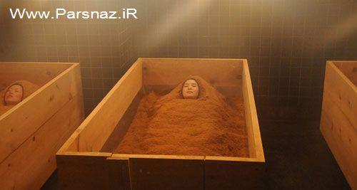 حمام کردن عجیب زنان ژاپنی برای جلوگیری از پیری پوست