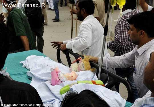 دختر 5 ساله هندی مورد تجاوز قرار گرفت ( عکس)