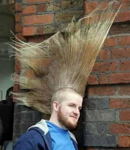 تصاویری از جالب ترین مدل مو های جهان..!