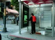 بازی های آنلاین در ایستگاه های اتوبوس سانفرانسیسکو..!