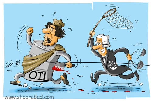 حکم بازداشت قذافی ( کاریکاتور ).!