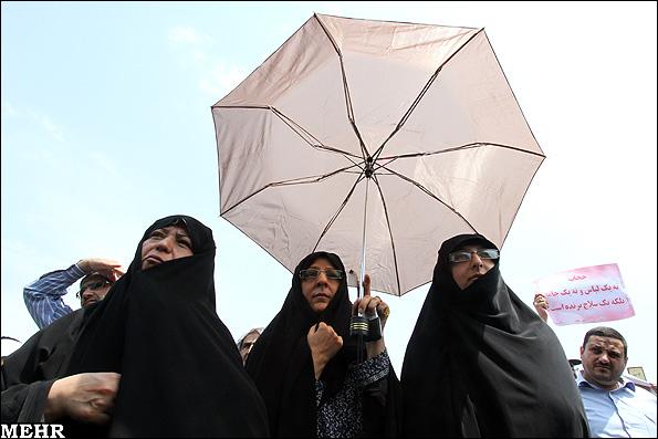 متن های عاشقانه حقوقی راهپیمایی در حمایت از حجاب..(تصاویر)