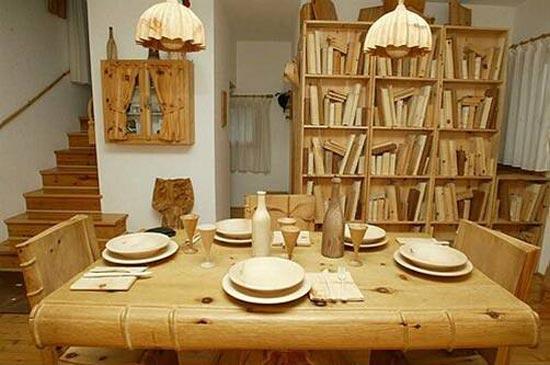 یک زندگی کاملا چوبی..(تصاویر)