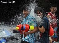 عکس هایی از جشنواره آب بازی در کشور تایلند