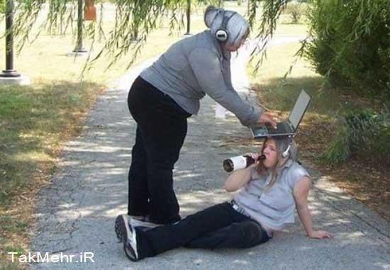 عکس های خنده دار از آدمهای عجیب با کارهای جالب
