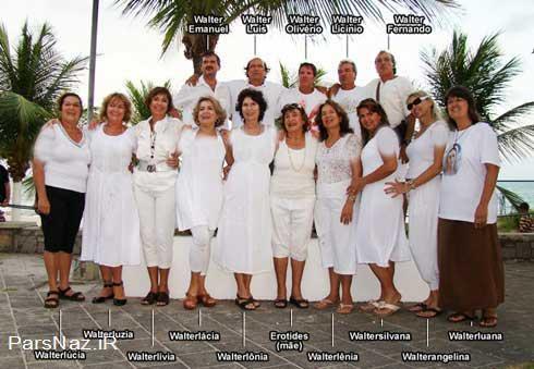 این خانم همه 15 فرزندانش را یک اسم نامگذاری کرده است