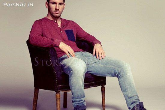 عکس های مسی وقتی که مدل لباس می شود