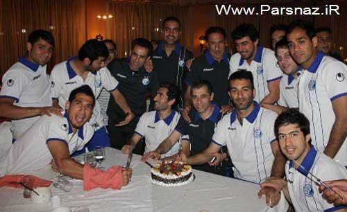 جشن تولد دو بازیکن استقلالی در کشور امارات (عكس)