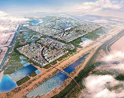 ساخت عجیب سبزترین شهر دنیا در قلب بیابان (عکس)