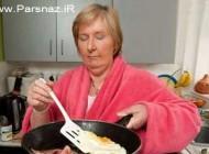 عجیب ترین زنی که در خواب آشپزی می کند!! عکس