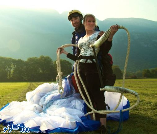 عکس های جالب تماشای خانم بندباز بر فراز دره
