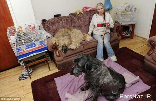 حیوانات دوست این خانم بیوه 52 ساله (عکس)