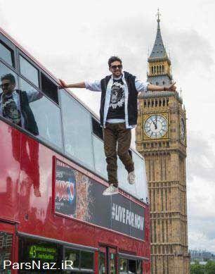 مردی که توانایی معلق ماندن در هوا را دارد (عکس)