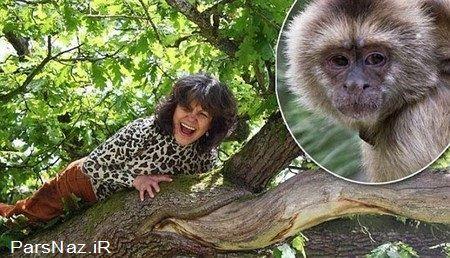 زنی که مادر و پدرش میمون ها بودند (عکس)