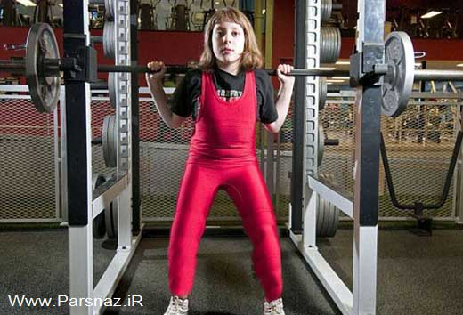 قویترین دختر بچه ای که رکورد دار گینس شد (عکس)