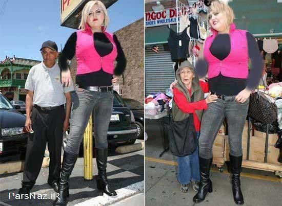 دختری با 206 سانت قد و قدرت شگفت انگیز (عکس)