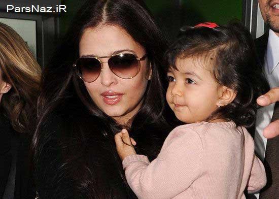 عکس آیشواریا رای و دخترش در جشنواره کن 2013