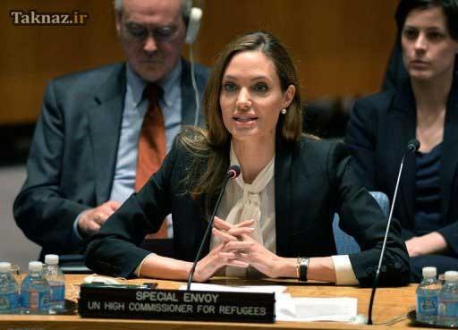 آنجلینا جولی در جلسه شواری امنیت (عکس)