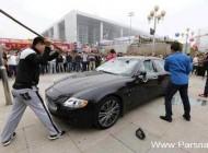 خرد کردن اتومبیل مازراتی 423 هزار دلاری! (عکس)