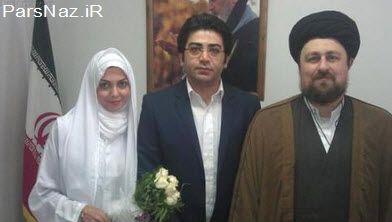تصاویر ویژه از مراسم عقد فرزاد حسنی و همسرش (عکس)