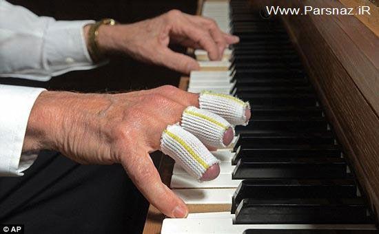 کار شگفت انگیز پیرمرد هنرمند با انگشتان قطع شده (عکس)