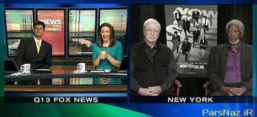 خواب رفتن بازیگر هالیوود در برنامه زنده تلویزیونی (عکس)