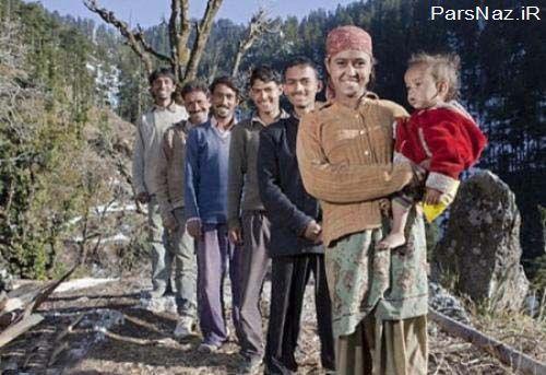 زندگی یک زن هندی با 5 شوهرش (عکس)